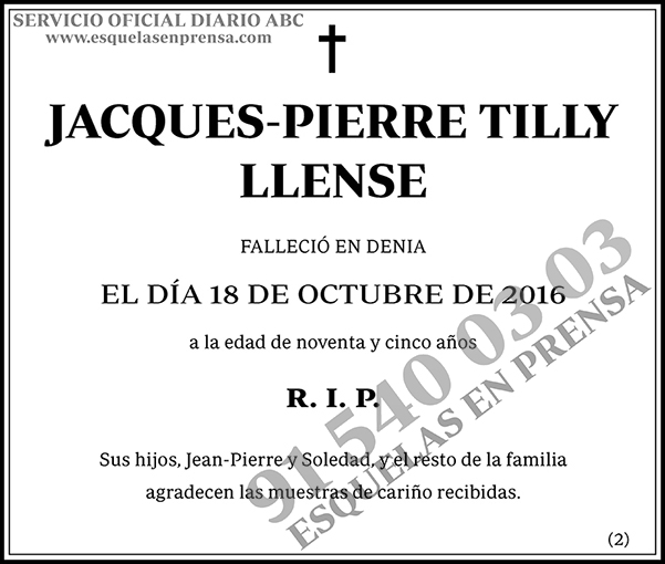 Jacques-Pierre Tilly Llense